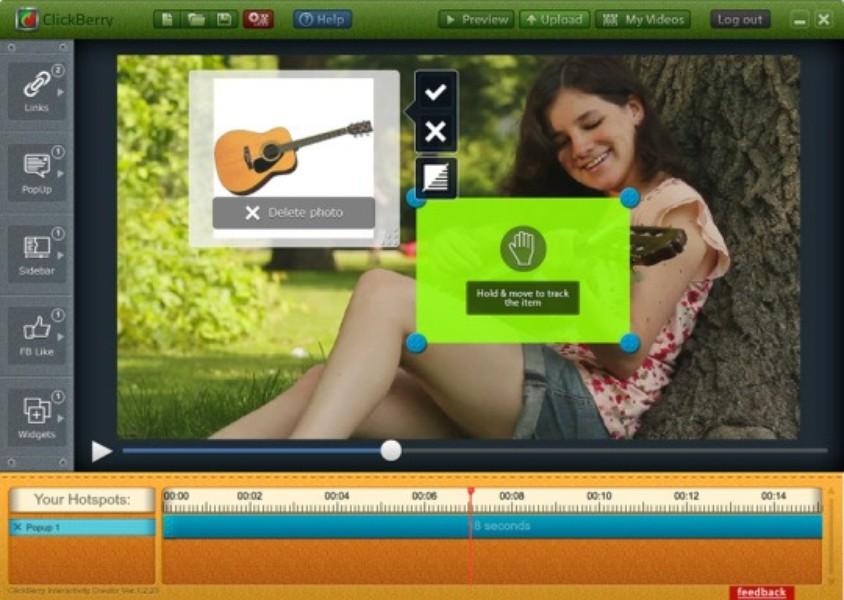 Software de edição de vídeo: ClickBerry