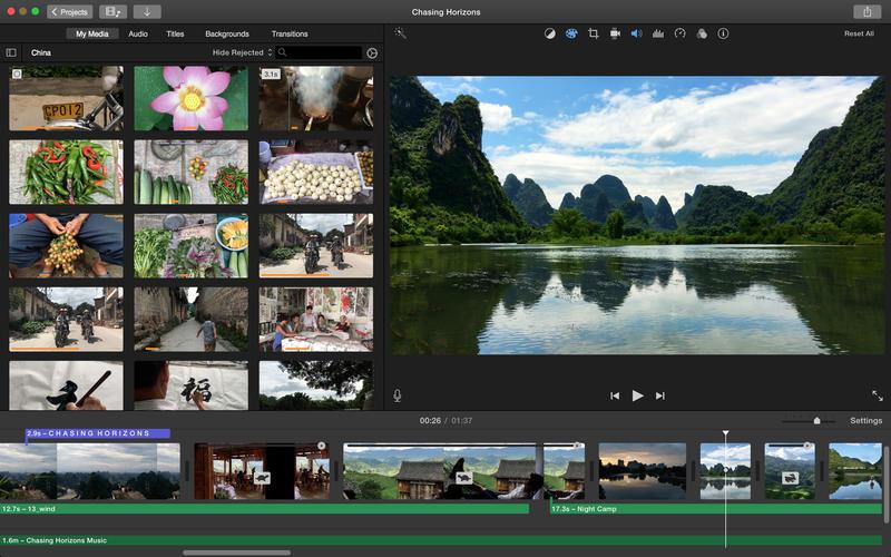 Software de edição de vídeo: iMovie