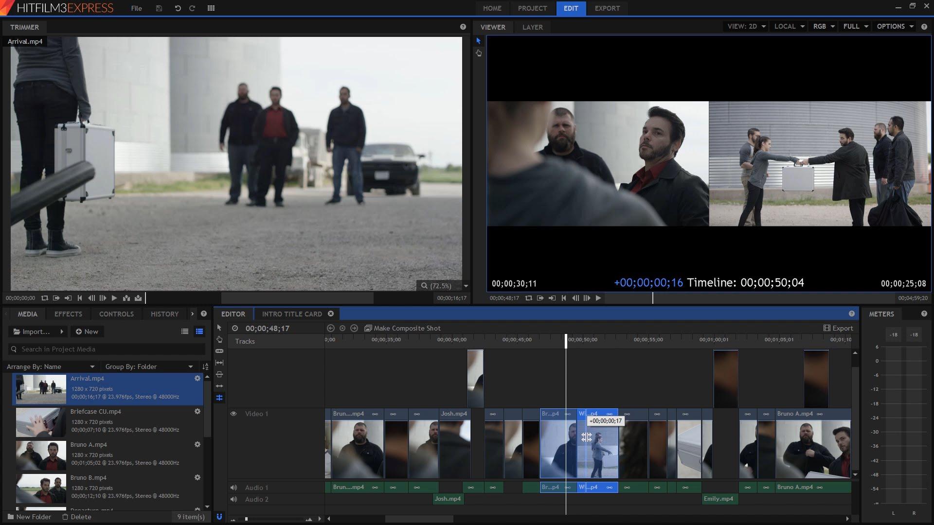 programa hitfilm para edição de vídeo