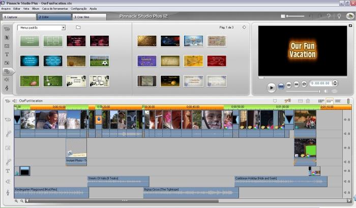 programa pinnacle para edição de vídeo